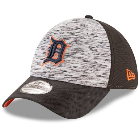 Detroit Tigers New Era Shadow Faded 39THIRTY Flex Hat - Graphite/Black