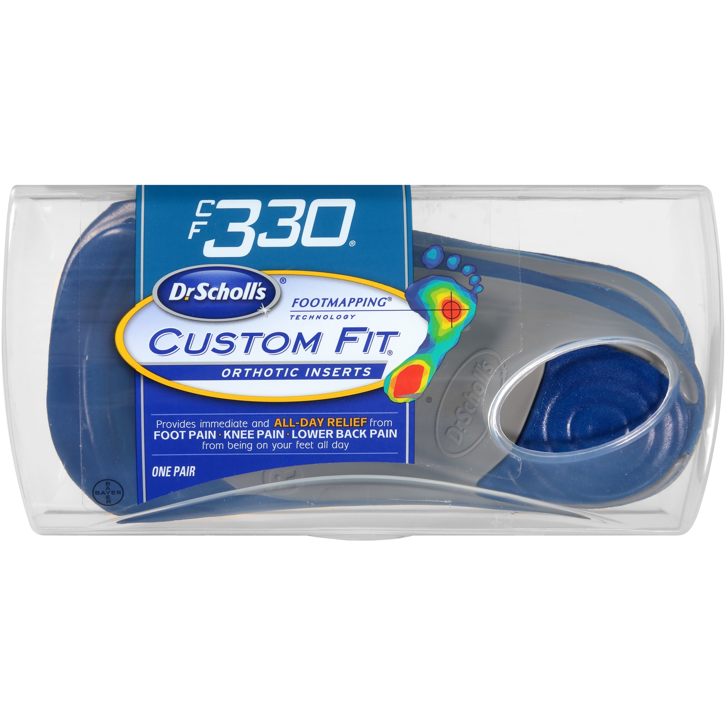 Dr. Scholl's® Custom Fit® Orthotic Inserts CF330, 1 Pair