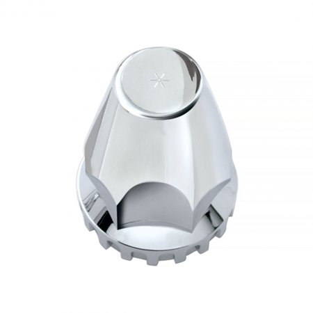 Chrome Bolt Toppers Caps - (10) Wheel Lugnut Chrome Plastic 33mm Thread On Standard Nut Covers Caps / 33 mm