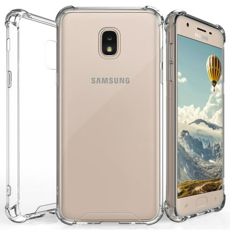 Galaxy J3 Achieve/Star/J3V/2018 Case Clear, Beyond Cell [Aquaflex] Transparent CLEAR Flexible TPU [Shock Absorbing] Bumper Cover for Samsung Galaxy J3 Achieve, J3 Star, J3 V (2018)