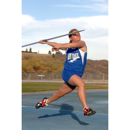 LAMINATED POSTER Female Woman Track And Field Throw Javelin Poster Print 24 x 36
