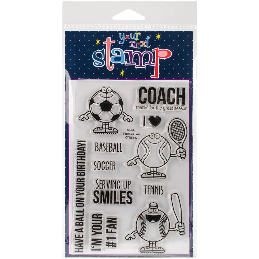 "Your Next Stamp Clear Stamps, 4"" x 6"", Sports Fanatics 2"