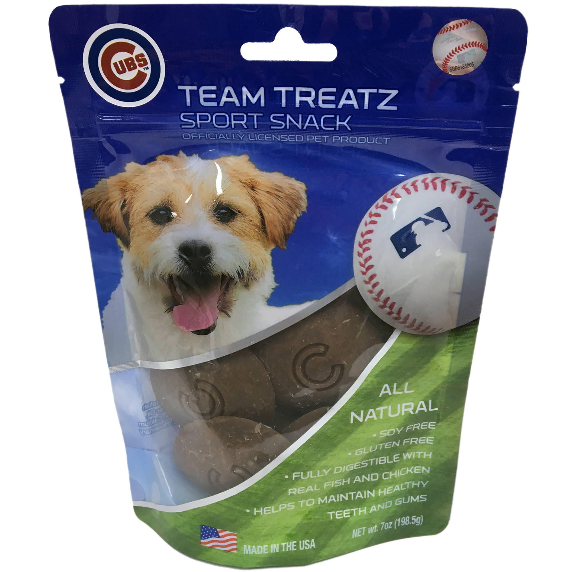 Pets First MLB Chicago Cubs Baseball Dog Treats, Delicious Cookies for Dogs, Baseball Reward for the Sporty PUP