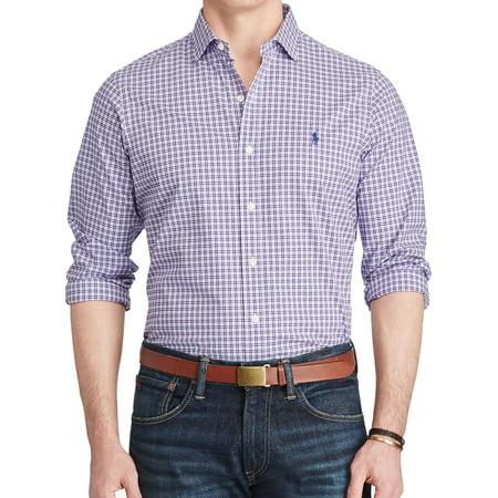 Polo by Ralph Lauren Mens Light Blue Button Down Shirt