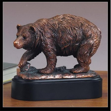 Marian Imports F53201 Bear Bronze Plated Resin Sculpture