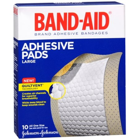 BAND-AID Adhesive Pads Comfort-Flex Large 10