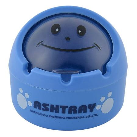 Unique Bargains Phenolic Resin Ball Shaped Home Office  Ash Holder Case Ashtray Blue