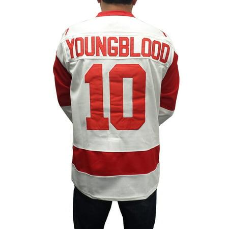 Dean Youngblood  10 Mustangs Hockey Jersey Costume Movie Uniform Hamilton  Young - Walmart.com 5313de04a4