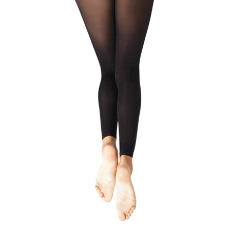 Footless Tight w Self Knit Waist Band - - Girls Footless Tights