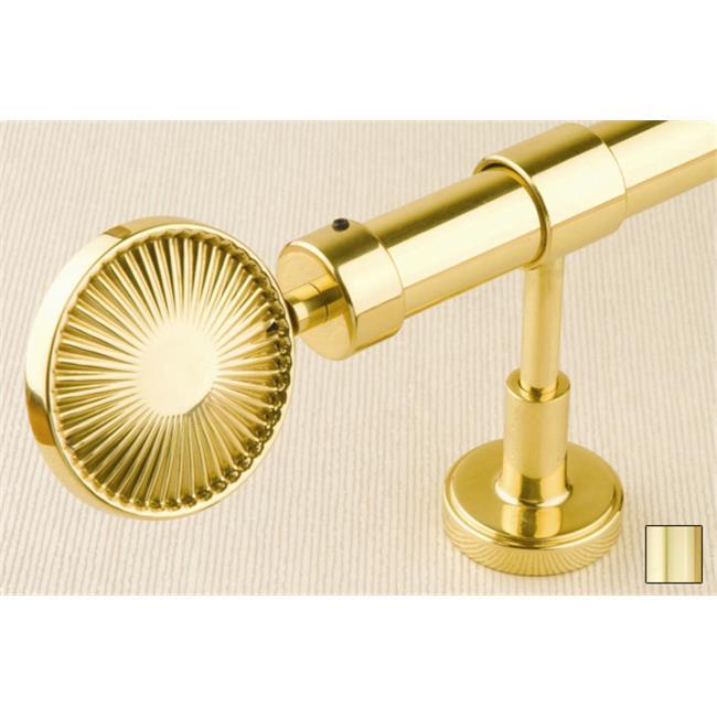 WinarT USA 8. 1132. 25. 04. 400 Liber 1132 Curtain Rod Set - 1 inch - Polished Brass - 157 inch