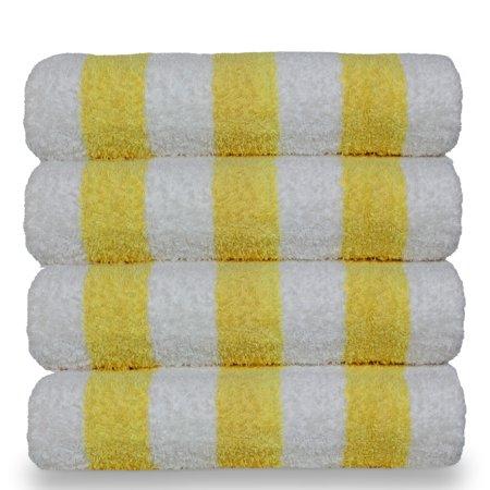 Luxury Hotel & Spa Towel 100% Cotton Pool Resort Beach Towels - Cabana - Yellow - Set of 4 ()