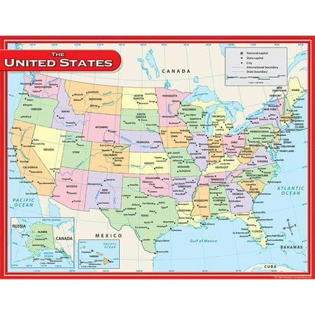 Us Map Chart 17X22