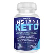 Instant Keto Pills Advanced BHB Boost Ketogenic Supplement Exogenous Ketones Instaketo Insta Ketosis for Men Women 60 Capsules