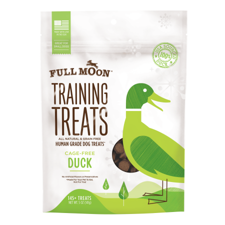 Full Moon All Natural Human Grade Dog Treats, Duck, 5 Ounce