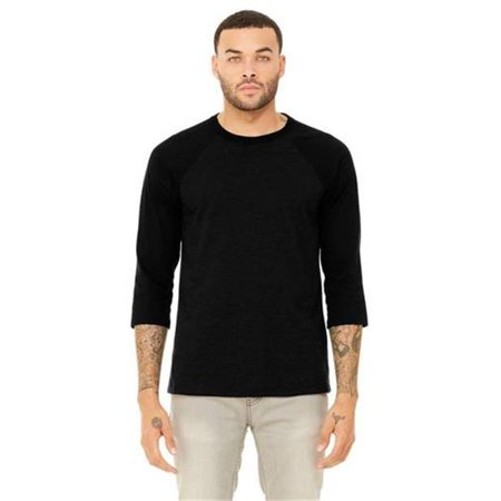 - Cottonex C0245A138LRG 3 by 4 Sleeve Baseball Tee Shirt for Adult, Natural & Black - Large
