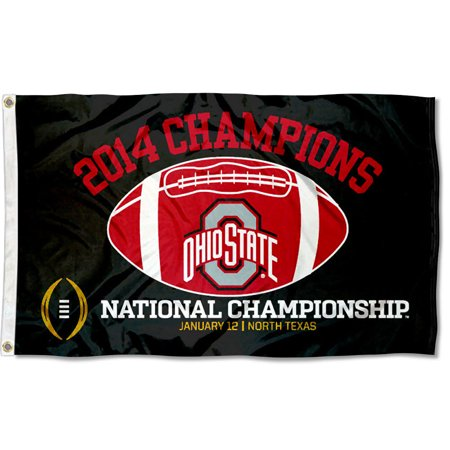 Ohio State Buckeyes 2014 College Football Playoff Champs 3' x 5' Pole Flag