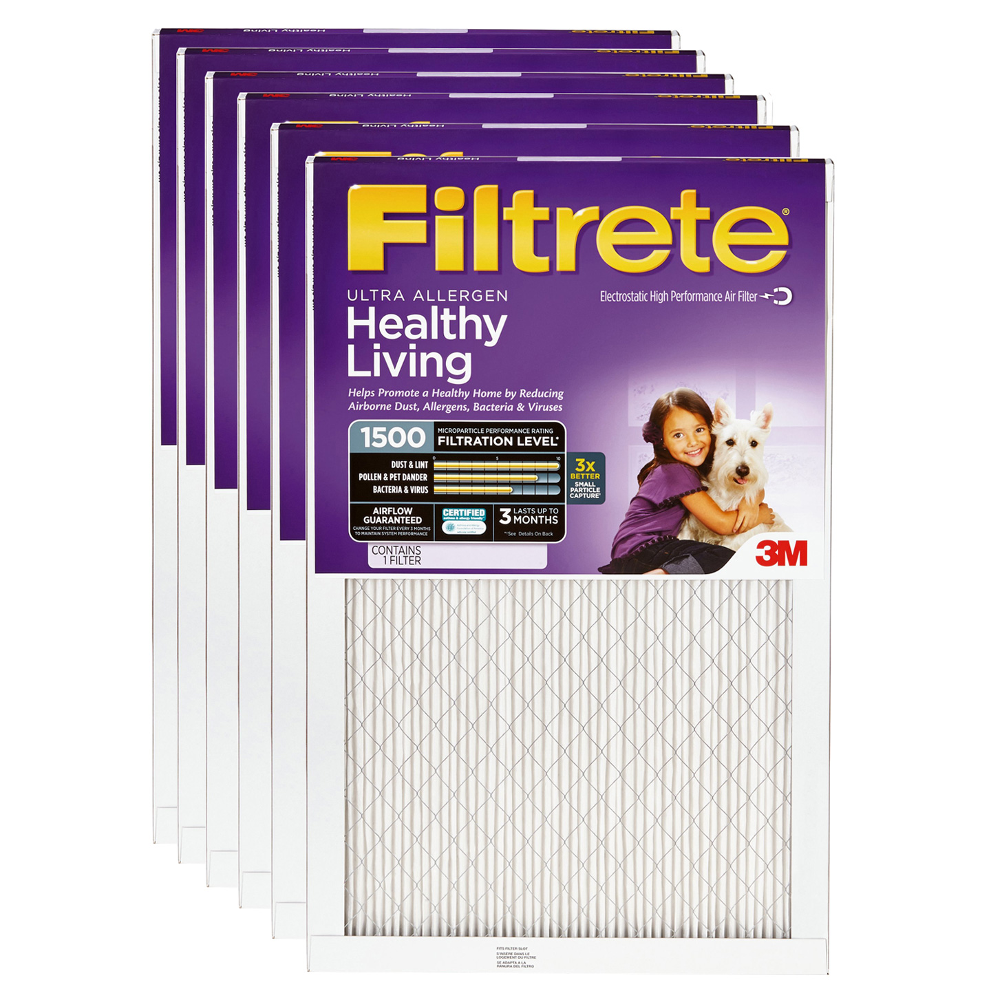 3M Filtrete 16x25x1 Ultra Allergen Reduction Air Filter (6 Pack)