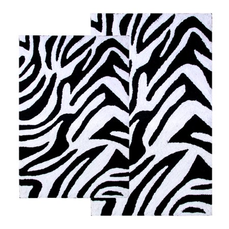Zebra Bath Rugs - Chesapeake Merchandising Zebra Print 2-pc. Bath Rug Set