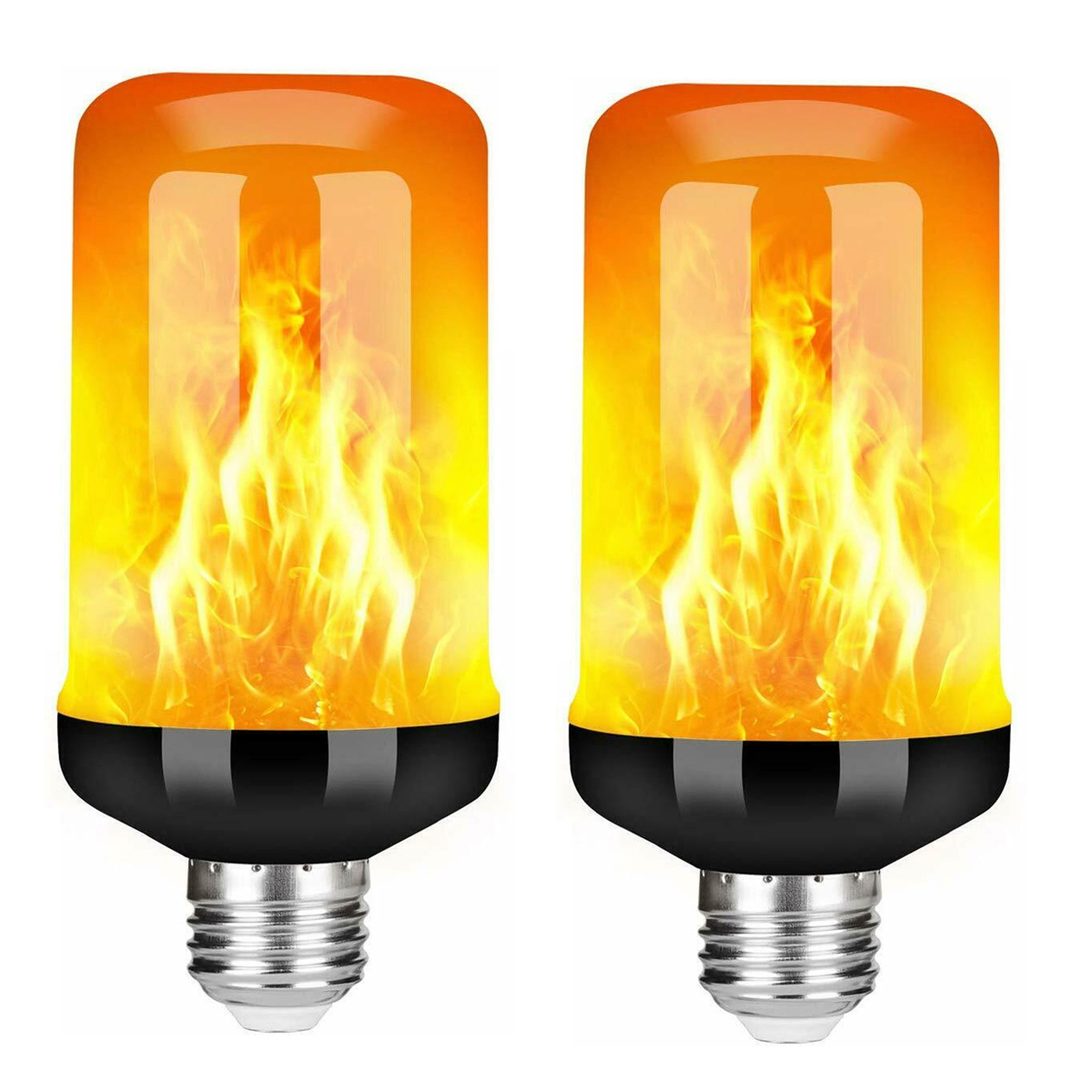 LED Flicker Flame Light Bulb Simulated Burning Fire Effect Xmas Party Lamp