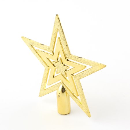 Top Star for Xmas Tree Gold Christmas Adornment