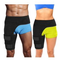 Hip Brace Compression for Lower Back Sciatica Pain Help Sciatic Nerve Groin Strain Wrap Pain Support Compression Recovery Thigh Wrap Neoprene Hernia, Pulled Groin, Quad Hamstring Brace for