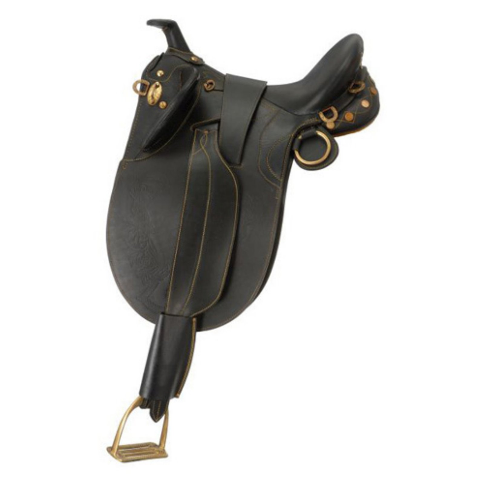 Australian Outrider Collection Stock Poley Saddle with Horn by JT International