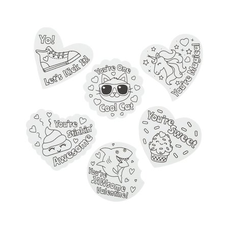 CYO FOAM VALENTINE SHAPES (48PC) - Craft Kits - 48 Pieces Valentine Foam Crafts