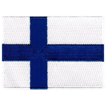 Finland Ribbons - Finland Flag Embroidered Iron-on Patch