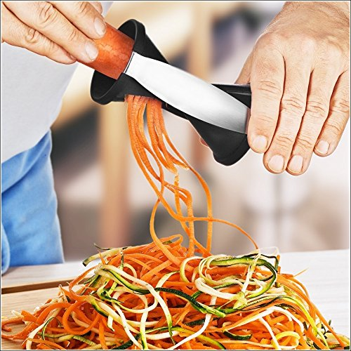 Homemaker Spiralizer, Spiral Vegetable Slicer & Zucchini Pasta Noodle Spaghetti Maker (Colors May Vary)