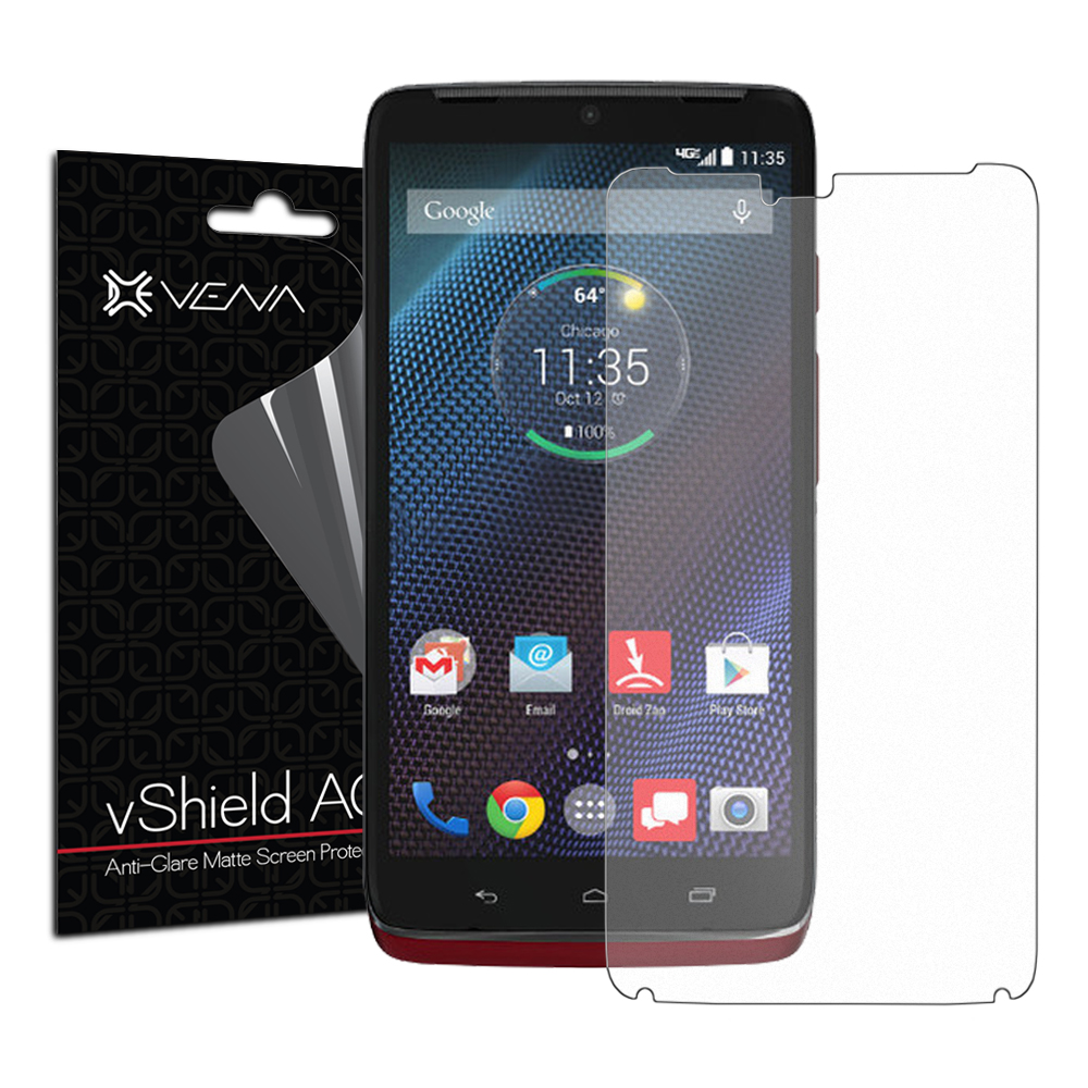 VENA vShield - Motorola DROID Turbo Screen Protector [Anti Glare] Matte Anti-Scratch Shield with Lifetime Replacement Warranty (3 Pack)