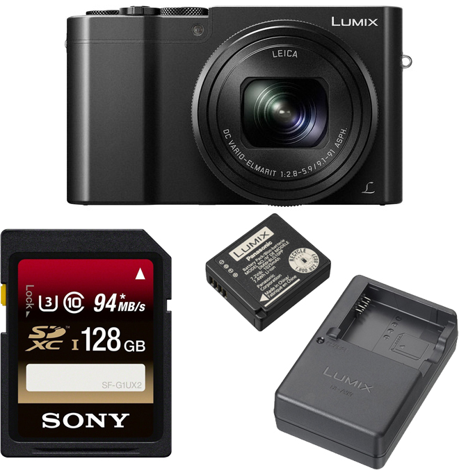 Panasonic DMC-ZS100 20.1MP Camera 4K with DMW-ZSTRV  Battery and 128GB Card