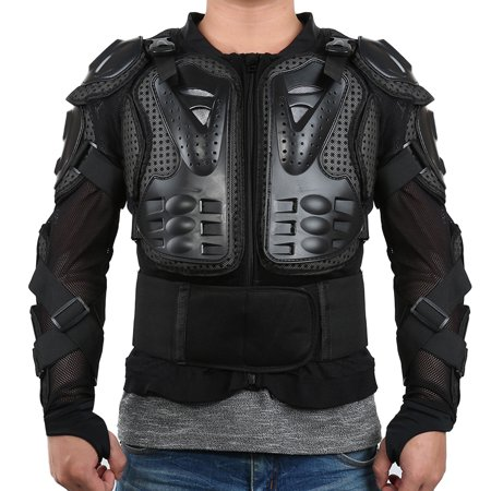 Jeobest Motorcycle Armored Jacket - Motorcycle Full Body Armor Jacket Spine Chest Protection Gear Clothing Motocross Motorbike Protection Jacket Black L (Please confirm size before buying)