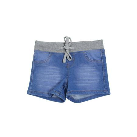 7H090(SH) - Girls Stretch, Elastic Waist with Drawstring, Premium Shorts (Skorts Girls)