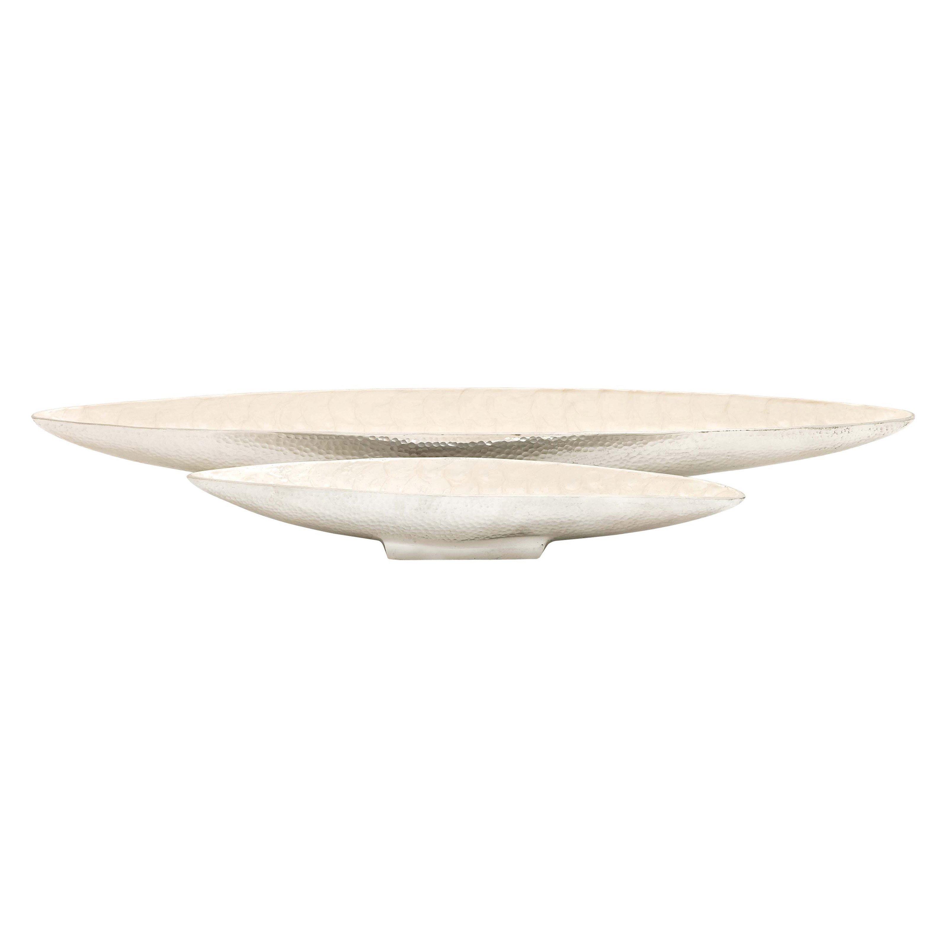 Woodland Imports Set of 2 Aluminum Decorative Bowls