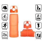Collapsible Travel Water Bottle - 26 oz (750 ML) with BPA Free Silicone Leak Proof Foldable Sports Bottle for Sports Outdoor Hiking Travel Camping Picnic