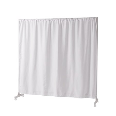 Don't Look At Me - Expandable Privacy Room Divider - White Frame with White - Overlapping Circles Room Divider