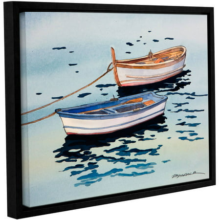 """ArtWall Bill Drysdale """"Sage Vernazza Light"""" Gallery-Wrapped Floater-Framed Canvas"""