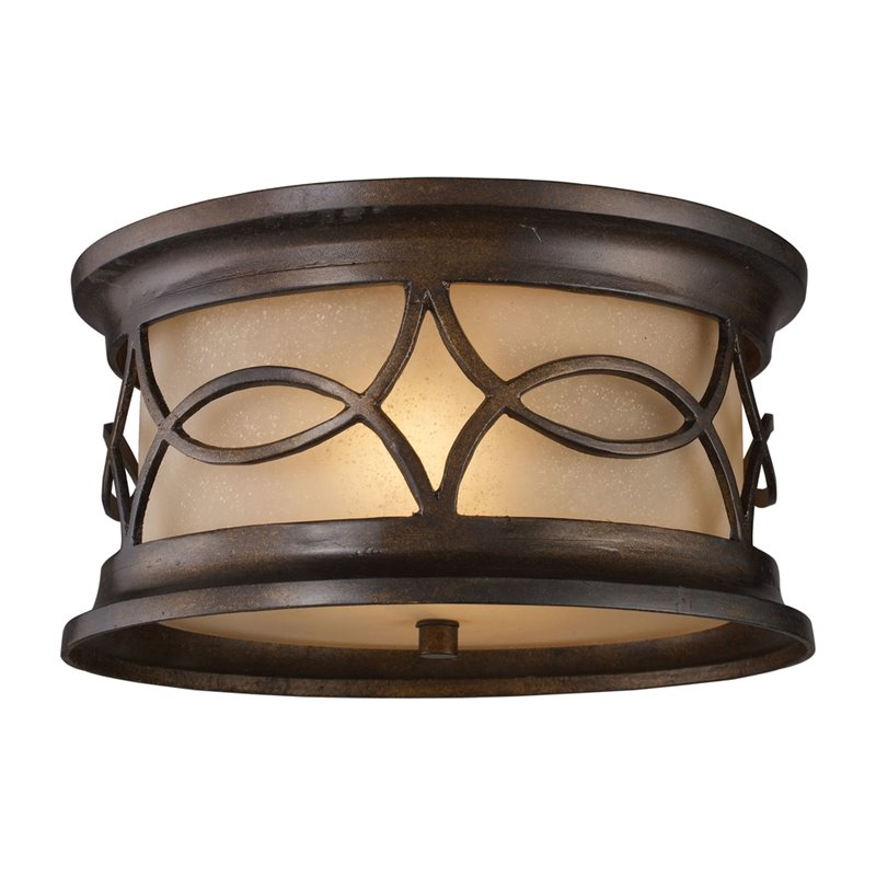 ELK Lighting Burlington Junction 41999/2 2-Light Outdoor Flush Mount