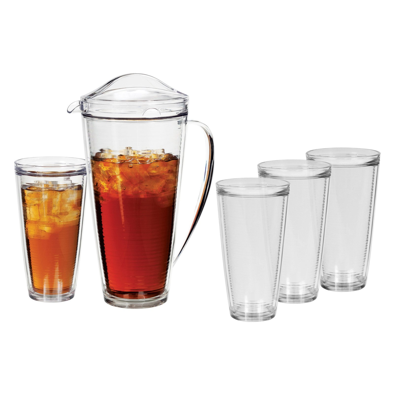 Creative Bath Insulated 70 oz. Pitcher and 22 oz. Tumblers - Set of 5