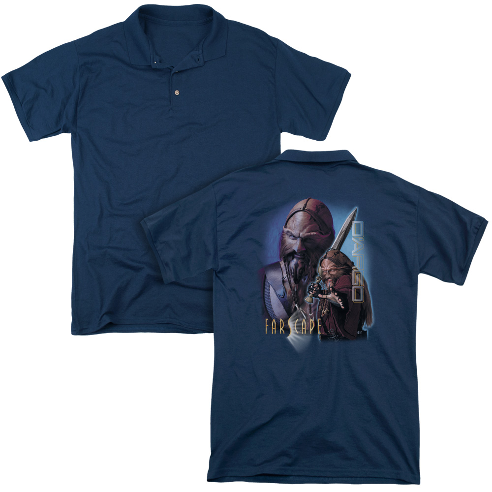 Farscape Syfy TV Series D'Argo Adult Back Print Polo T-Shirt
