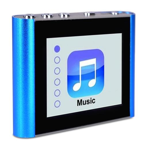 "Refurbished Eclipse V180 8GB 1.8"" LCD Mini Compact MP3 MP4 Digital Music/Video Player-Blue"