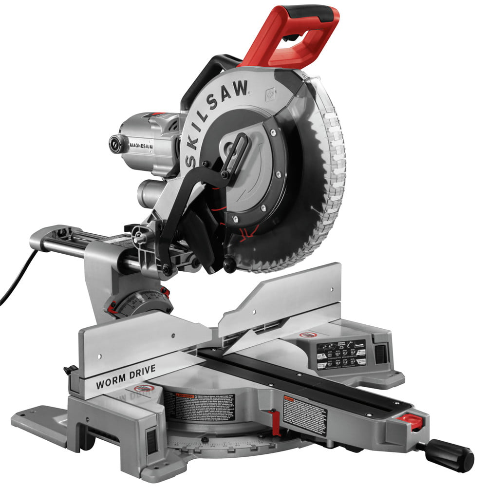 SKILSAW SPT88-01 12 in. Worm Drive Dual Bevel Sliding Miter Saw by