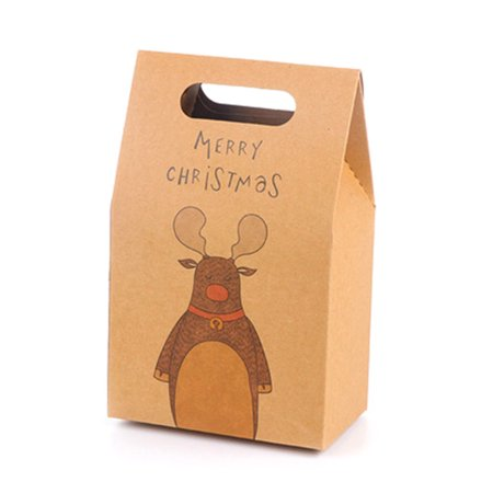 Fancyleo Merry Christmas Candy Box Party Dessert Paper Packaging Box Festival Gift Candy Box