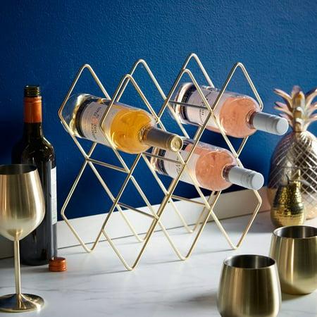 VonShef Freestanding 10 Bottle Tabletop Wine Rack
