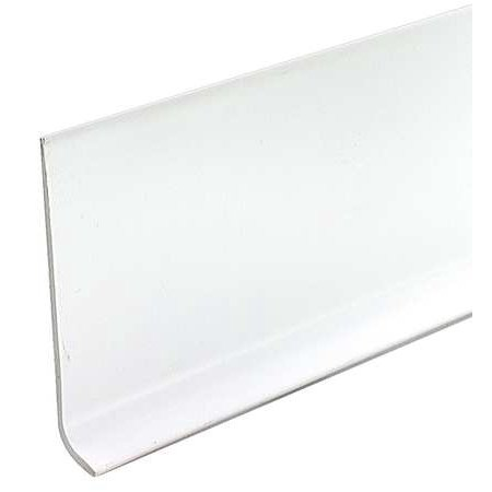 5MFJ9   White Wall Base Molding,  48 In. L