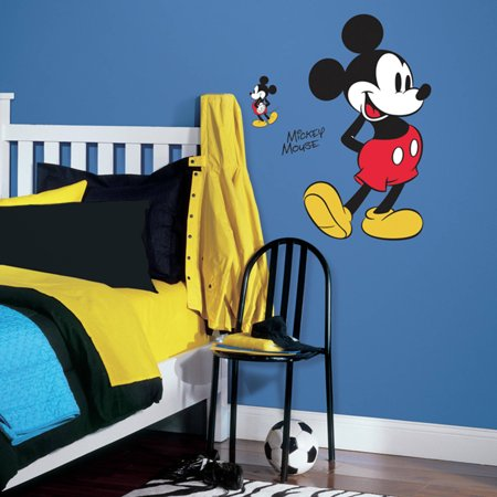 RoomMates Decor Mickey Mouse Peel-and-Stick Giant Wall Decals - Wallpaper Mickey Mouse Halloween