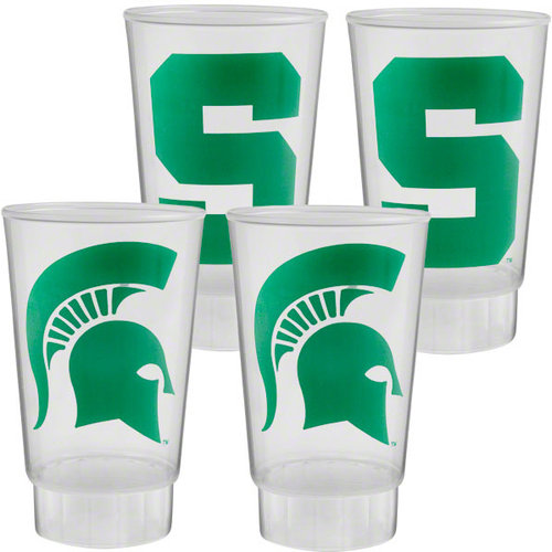 NCAA - Michigan State Spartans Plastic Tumbler 4-Pack