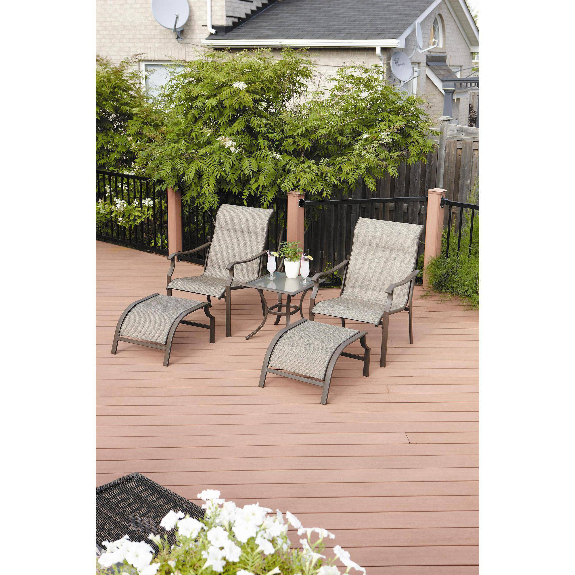 Mainstays York 5-Piece Outdoor Leisure Set, Seats 2