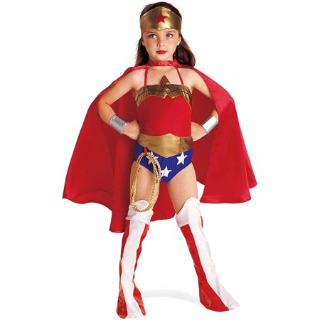 Justice League DC Comics Wonder Woman Child Halloween Costume (Rasta Woman Halloween Costume)