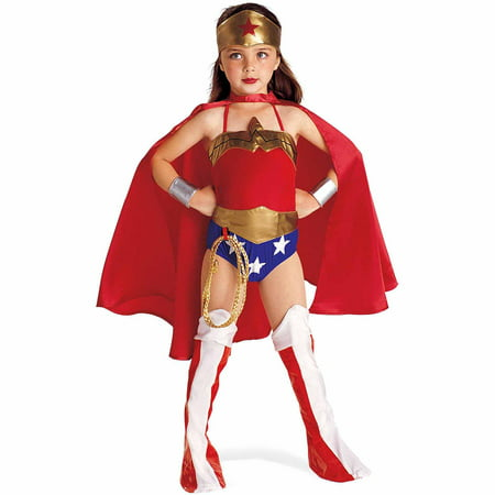 Justice League DC Comics Wonder Woman Child Halloween Costume](Two Women Halloween Costumes)